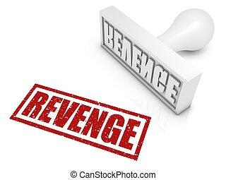 Revenge Rubber Stamp - REVENGE rubber stamp. Part of a...