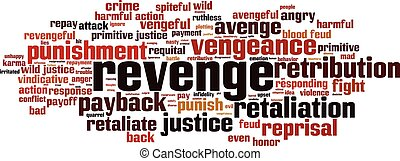 Revenge word cloud - horizontal