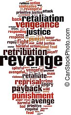 Revenge word cloud - vertical