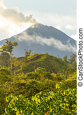 reventador, volcan, éruption