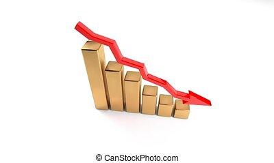 revenue., druppel, omzet, zakelijk, herfst, het niet doen,...