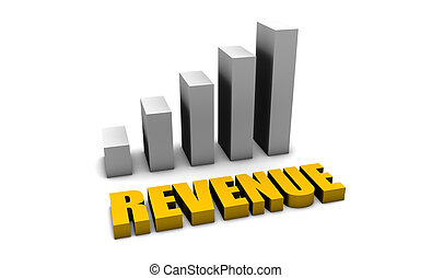 Revenue Growth of a Company Profits in 3d