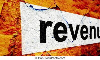 Revenue grunge concept