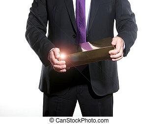 revenus, projection, homme affaires