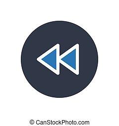 reverse  glyph color icon