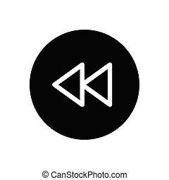 reverse  glyph flat icon
