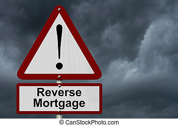 Reverse Mortgage Caution Sign, Red and White Triangle ...