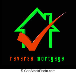 Reverse Mortgage Financing House Depicts Line Of Credit From Home Ownership - 3d Illustration