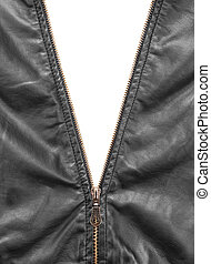 revestimento couro, zipper, abertura