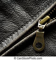 revestimento couro, zipper