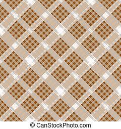 revidovat, hněď, béžový, textilie, seamless, pattern., vektor, illustration.