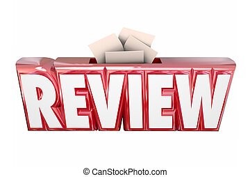 Review 3d Word Collection Suggestion Score Card Box