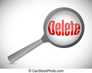 Review before deleting illustration design