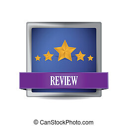 review button illustration design