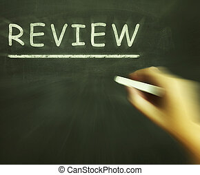 Review Chalk Means Checking Inspecting And Evaluation