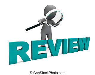 Review Character Shows Assess Reviewing Evaluate And Reviews...