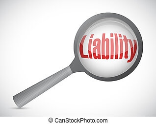 review liability illustration design over a white background