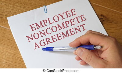 Review of Employee Noncompete Agreement Concept - Employee...
