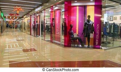pavilions of shops of clothes