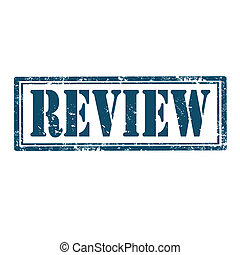 Grunge rubber stamp with word Review, vector illustration