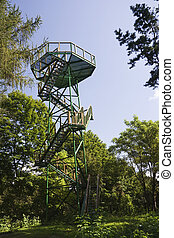 Review tower in the forest