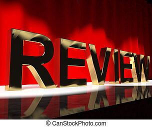 Review Word On Stage Showing Evaluation And Feedback -...
