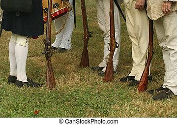 Inspection of the Troops--Revolutionary War Reenactment