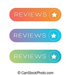Reviews button vector speech bubble