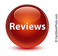 Reviews glassy brown round button