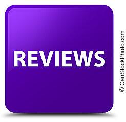 Reviews purple square button