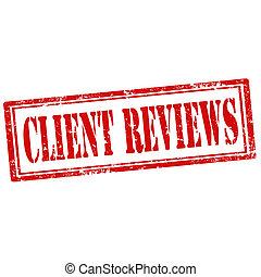 reviews-stamp, Klient