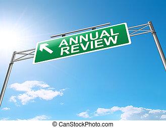 revisão, anual, concept.