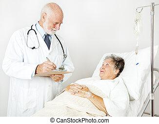 revisões, doutor médico, história