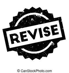 Revise rubber stamp. Grunge design with dust scratches....