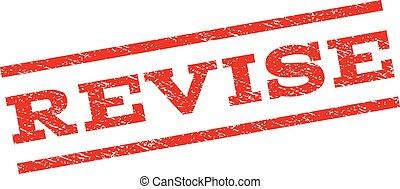 Revise Watermark Stamp - Revise watermark stamp. Text tag...
