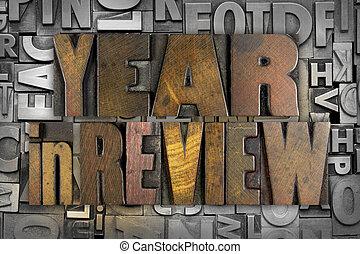 revisión, año