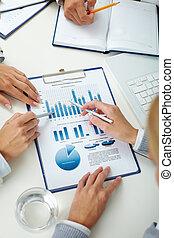 revisión, empresa / negocio