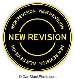 revisión, palabra, color, nuevo, blanco, redondo, plano de ...