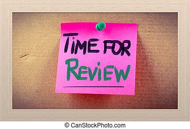 revisione, concetto, tempo
