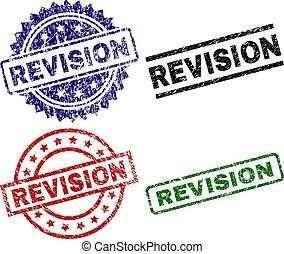 revisione, textured, graffiato, francobolli, sigillo
