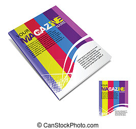 revista, disposición, diseño