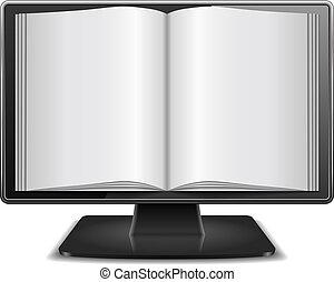 revista, monitor computador
