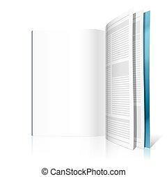 revista, página, em branco