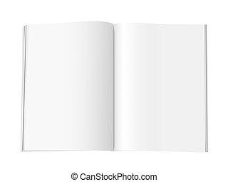 revista, -, páginas, xl, blanco