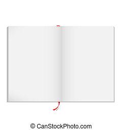 revista, vetorial, abertos, em branco