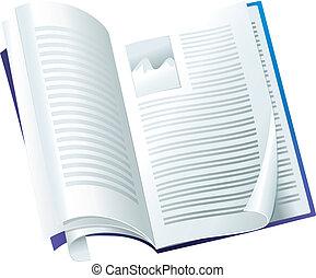 revista, vetorial, abertos