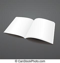 revista, vetorial, abertos, template., em branco