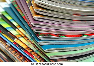 revistas, coloridos