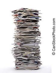 revistas, pilha