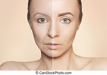 revitalization concept face before and after